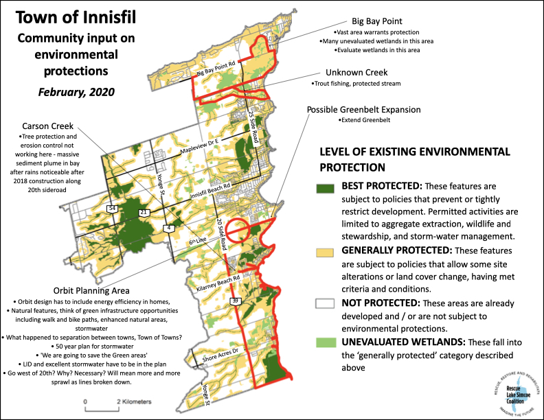 Results of natural heritage and environment community mapping in Innisfil,, Ontario