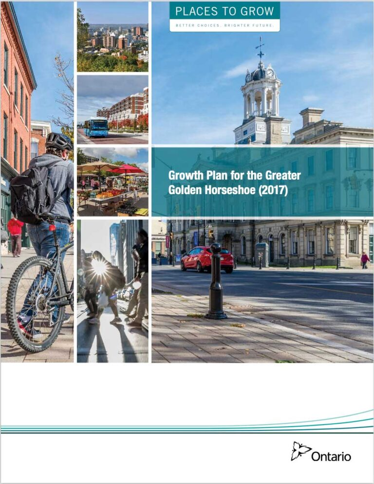 Cover of Ontario's Growth Plan (2017)