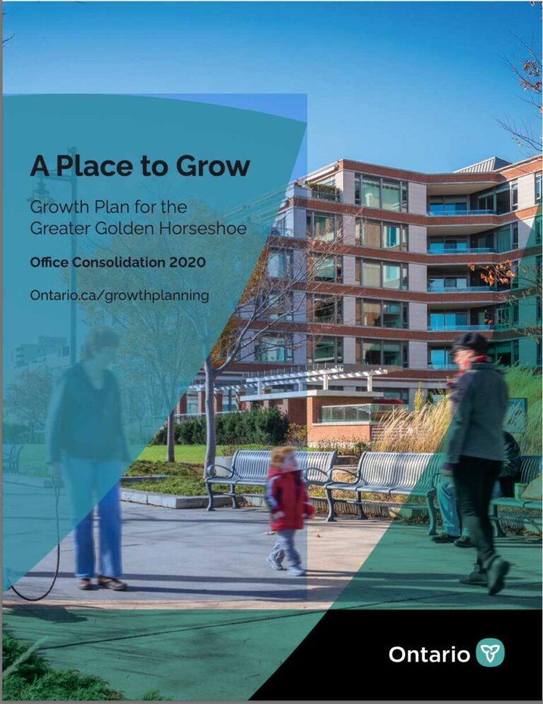 Cover of Ontario's Growth Plan 2020