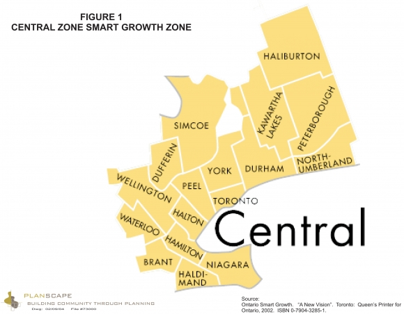 Central Zone Smart Growth Area map.